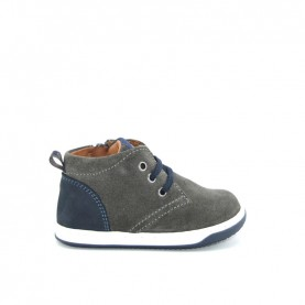 Walkey 40001 baby boy grey lace ups shoes