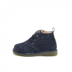 Walkey 40451 baby boy blue lace ups ankle boots