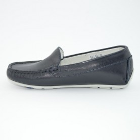 Morelli boy's blue leather loafers art.53190