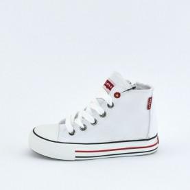 Levi's Trucker Hi white sneakers