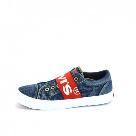 Levi's Bermuda elastic blue jeans slip-on sneakers