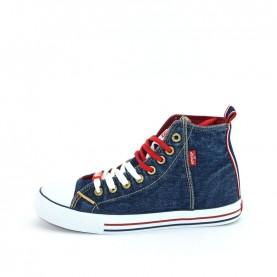 Levi's Original Hi blue jeans baby sneakers