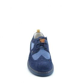 Alviero Martini N0325 boy blue lace ups shoes