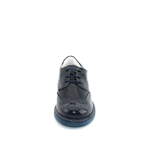 Morelli 50497 boy blue lace ups shoes