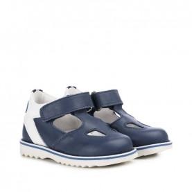 Walkey 40252 baby boy blue shoes