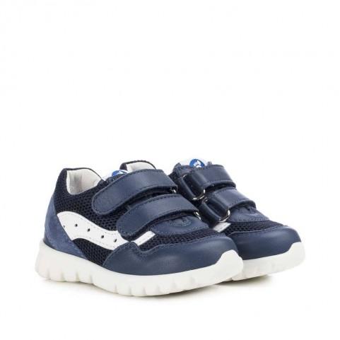 Walkey 40237 baby boy blue shoes