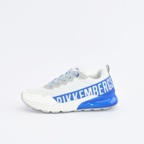 Bikkembergs 20505 white and royal blue sneakers