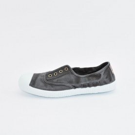 Cienta 70777 black washed-out fabric sneakers