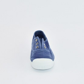 Cienta 70777 dark blue washed-out fabric sneakers
