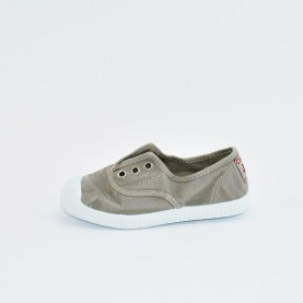 Cienta 70777 light grey washed-out fabric sneakers