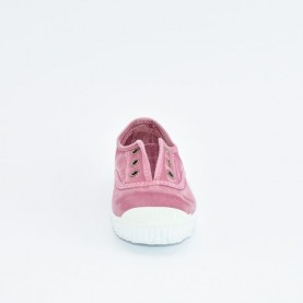 Cienta 70777 pink washed-out fabric sneakers