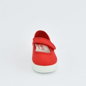Cienta 56000 red fabric dolly shoes