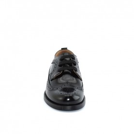 Morelli 50876 boy black lace ups shoes