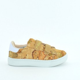 Alviero Martini MM12300 geo beige fabric sneakers