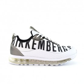 Bikkembers 20666 baby boy white and black sporty sneakers