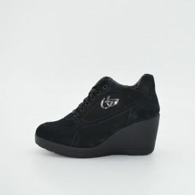 Byblos Blu 657015 001 wedge sneakers woman black