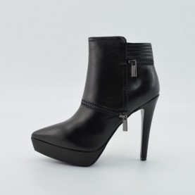 Barachini 5472A woman black heels ankle boots