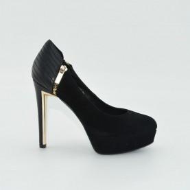 Barachini 5362A classic heels black suede