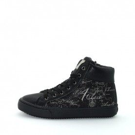 Alviero Martini 2123 girl black glitter sneakers