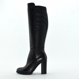 Dei Colli stay2 302 woman black leather high heels boots