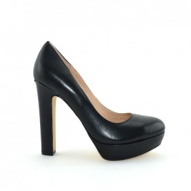 Liu jo 67061 black leather high heel decoltè