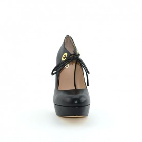 Liu jo 67057 black leather high heel decoltè