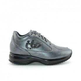 Byblos Blu 667003 woman black leather sneakers