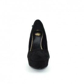 Byblos Blu 677406 woman black suede high heels decolletè