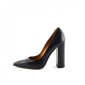 Tiffi N70/100A black leather high heels pointed classic shoes