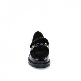 Barachini BB165C woman black loafer shoes