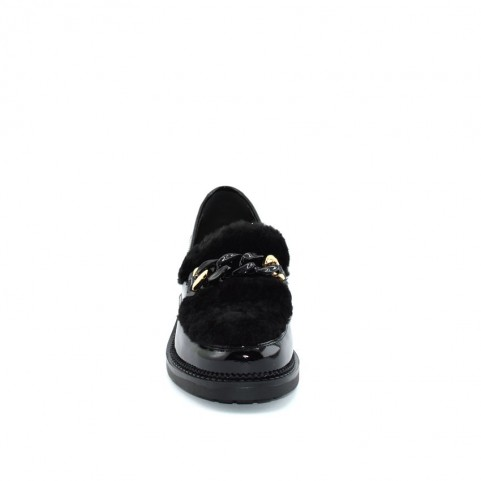 Barachini BB165C woman black loafer shoes