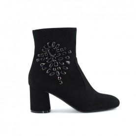 Tiffi GR65/60Z black suede medium heels ankle boots