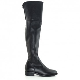 Anna Fidanza SU097L woman black leather cuissard boots