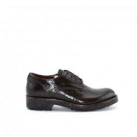 Corvari D1830 woman mahogany leather lace ups shoes