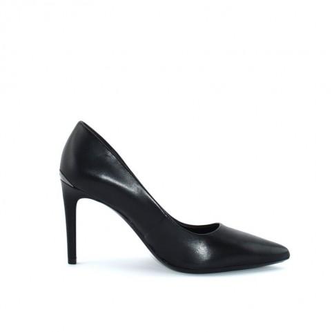 Calvin Klein Roxy black leather decolletè
