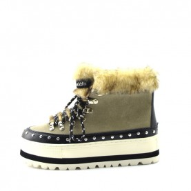 Sixty Seven 79871 woman beige lace ups boots