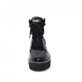 Sixty Seven 79725 woman black lace ups boots