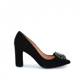 Tiffi N634/v80 black suede high heels decolte shoes