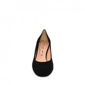 Tiffi GR42/60 black suede medium heels decolte shoes