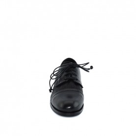 Lilimill 6518 woman black lace ups shoes