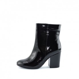 Barachini BB242C woman black naplak high heels ankle boots