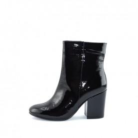 Barachini BB242C woman black naplak high heels ankle boots