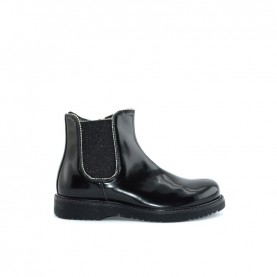 Morelli 50578 black pathent leather ankle boots