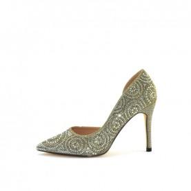 Menbur 20911 grey glitter decoltè heels
