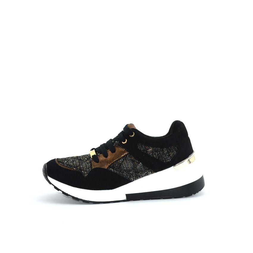 alta qualità il migliore prezzo economico art. 20693 0001 black nero MENBUR sneakers con zeppa in tessuto ...