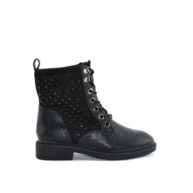 Menbur 20773 black lace ups ankle boots