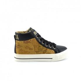 Alviero Martini 10378 black geo beige sneakers