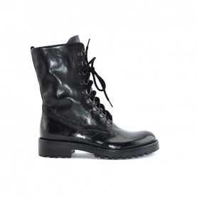 Corvari D2541 woman black leather lace ups ankle boots