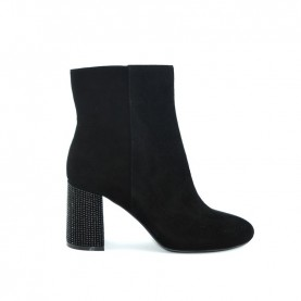 Barachini DD614E black medium heels ankle boots