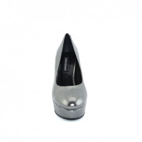 Barachini DD601G gun metal high heels decoltè
